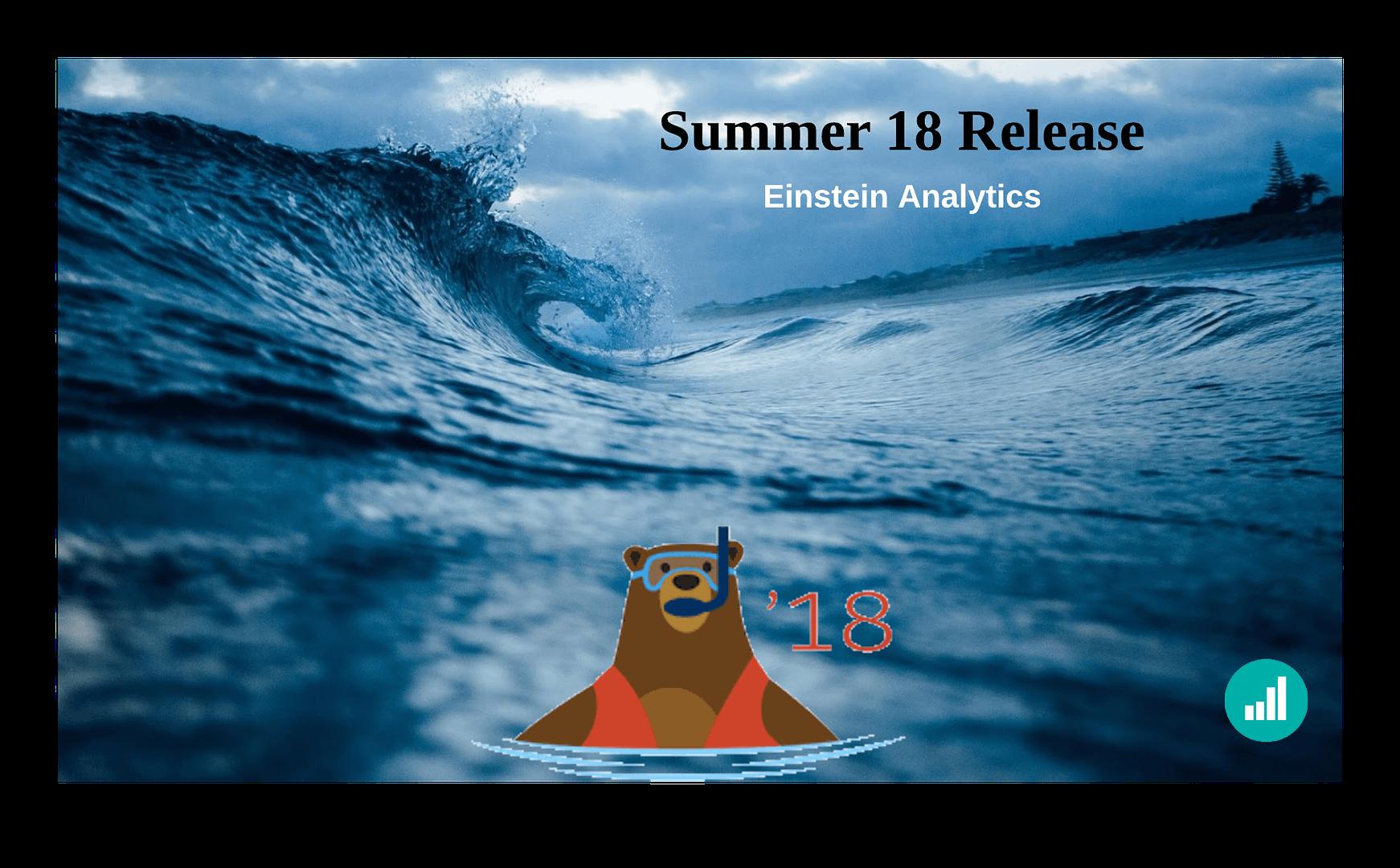Einstein Analytics Summer Release18